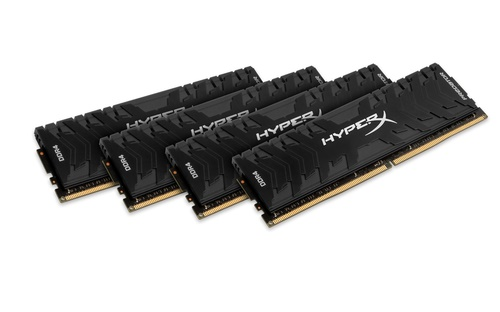 64GB DDR4-2400MHz CL12 Kingston XMP HyperX Predator, 4x16GB