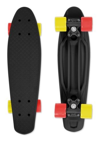 Skateboard Street Surfing FIZZ BOARD Black Red-Yellow beb5412929