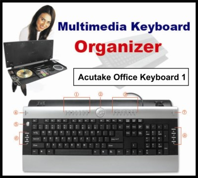 ACUTAKE ACU-OFFICEKEYBOARD 1 (Multimedia USB/PS2 and Organizer ) CZECH VERSION