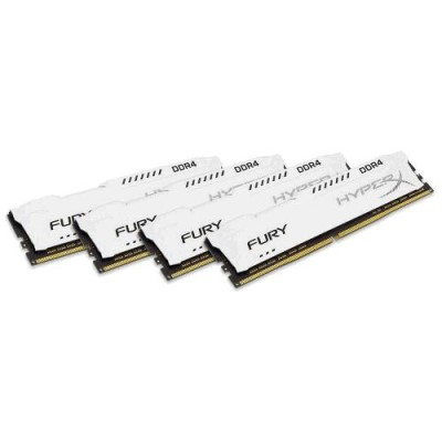 32GB DDR4 2400MHz CL15 DIMM 1Rx8 HyperX FURY White, 4x8GB