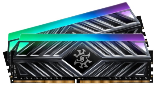 16GB DDR4-3000MHz ADATA XPG D41 RGB CL16, 2x8GB grey