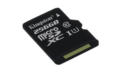 256GB microSDXC Kingston CL10 UHS-I 80R bez adap.
