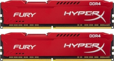 16GB 3466MHz DDR4 CL19 HyperX FURY Red, 2x 8GB