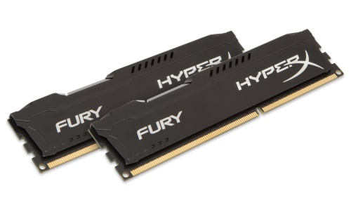 8GB DDR3-1600MHz Kingston HyperX Fury Black, 2x4GB (HX316C10FBK2/8)