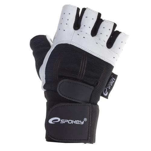 Spokey ZOE II Dámské Fitness rukavice bílo-tyrkysové vel.M  4cbe660acc