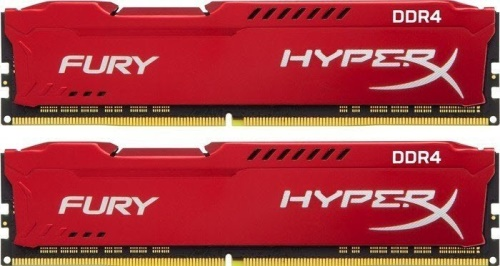 32GB 3466MHz DDR4 CL19 HyperX FURY Red, 2x 16GB