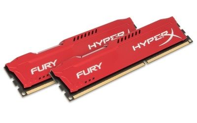 16GB DDR3-1600MHz Kingston HyperX Fury Red, 2x8GB (HX316C10FRK2/16)