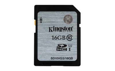 16GB karta SDHC Kingston UHS-I class 10 čtení 45MB/s (SD10VG2/16GB)