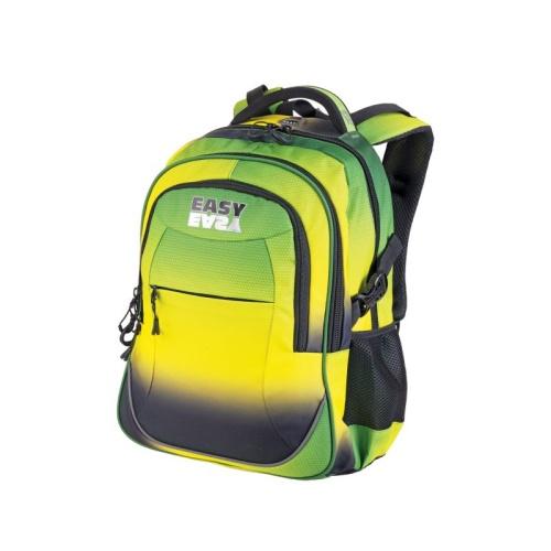 d21cafe7630 Batoh školní tříkomorový duhový zeleno-žlutý