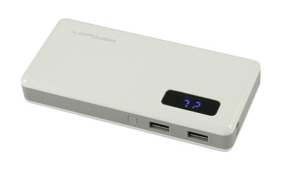LC POWER LC-PB-13000 Power bank 13000mAh with 2x USB connector, 2,1/1A, 13000mAh capacity, LED torch