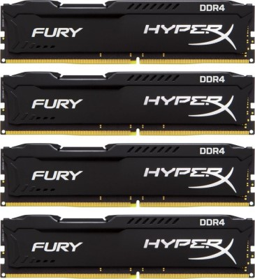 32GB DDR4 2933MHz CL17 HyperX FURY Black, 4x 8GB
