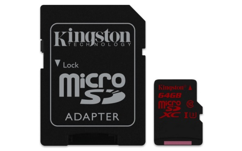 64GB microSDXC Kingston U3 90R/80W (SDCA3/64GB)