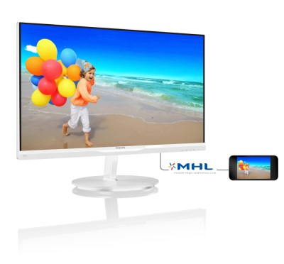 "23"" LED Philips 234E5QHAW-FHD,AHIPS,2xHDMI,white"