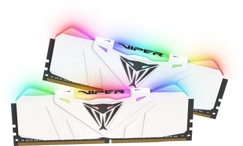 16GB DDR4-3000MHz RGB Patriot Viper CL15, kit 2x8GB white