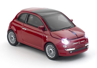 CLICK CAR MOUSE Fiat 500 new red (2,4GHz Wireless)